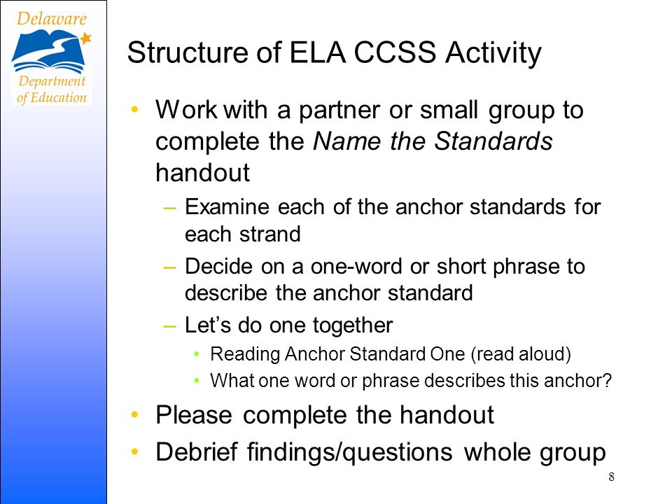 Time to Change ELA CCSS signify a need to change practice in the areas of: Content What Assessment What + How Instruction How 9