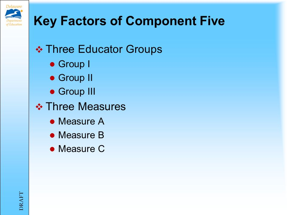 Component Five – Student Improvement Philosophy/Purpose DRAFT