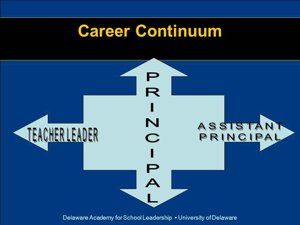 Delaware Academy for School Leadership University of Delaware Career Continuum