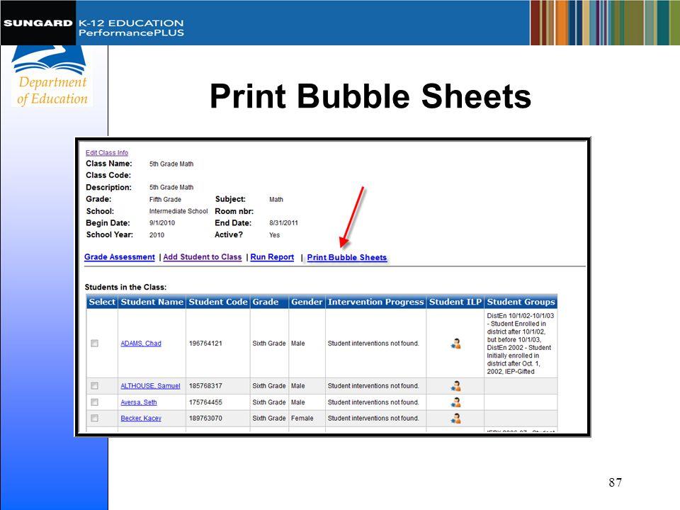 Print Bubble Sheets 87