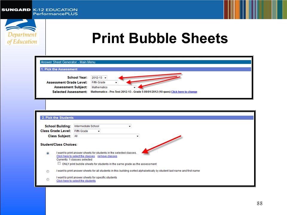 Print Bubble Sheets 88