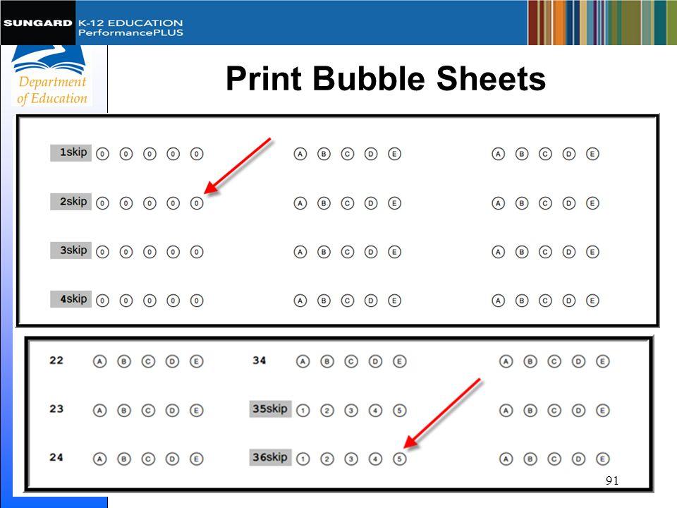 Print Bubble Sheets 91