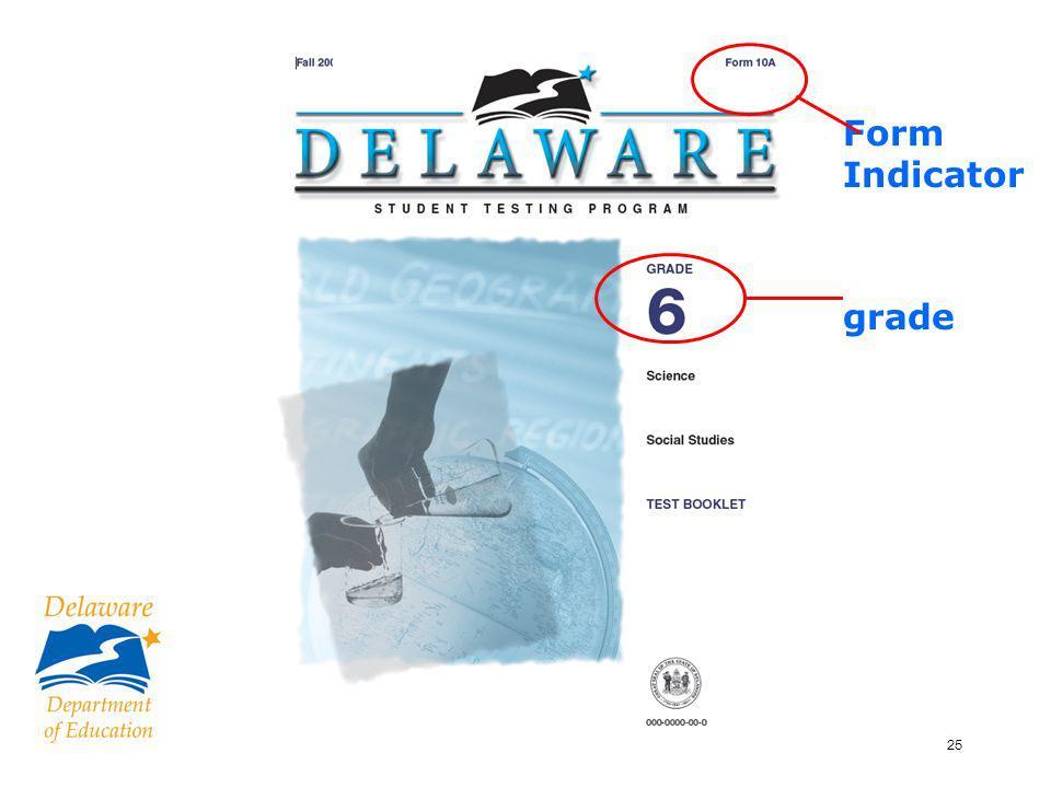 25 Form Indicator grade