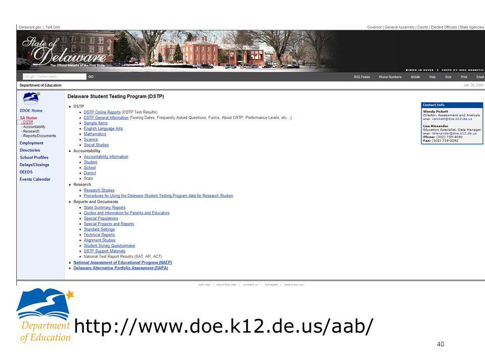 40 http://www.doe.k12.de.us/aab/