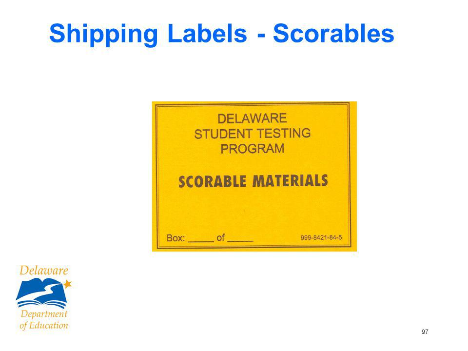 97 Shipping Labels - Scorables