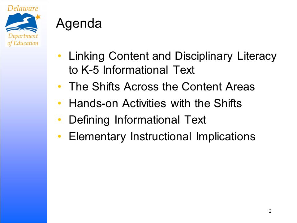 13 Adapted from engageNY Instructional ShiftsAssessment Shifts PK-5, Balancing Informational and Literary Texts A Balance of Authentic Informational and Literary Texts.