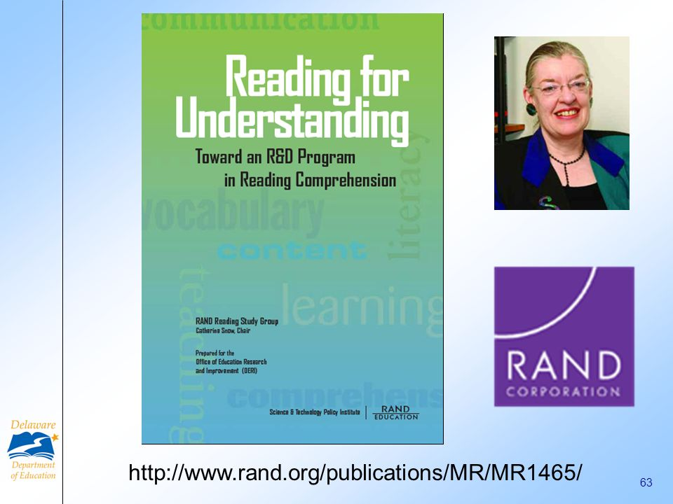 61 Choosing and Using Reading Interventions Sharon Walpole, Ph.D. University of Delaware