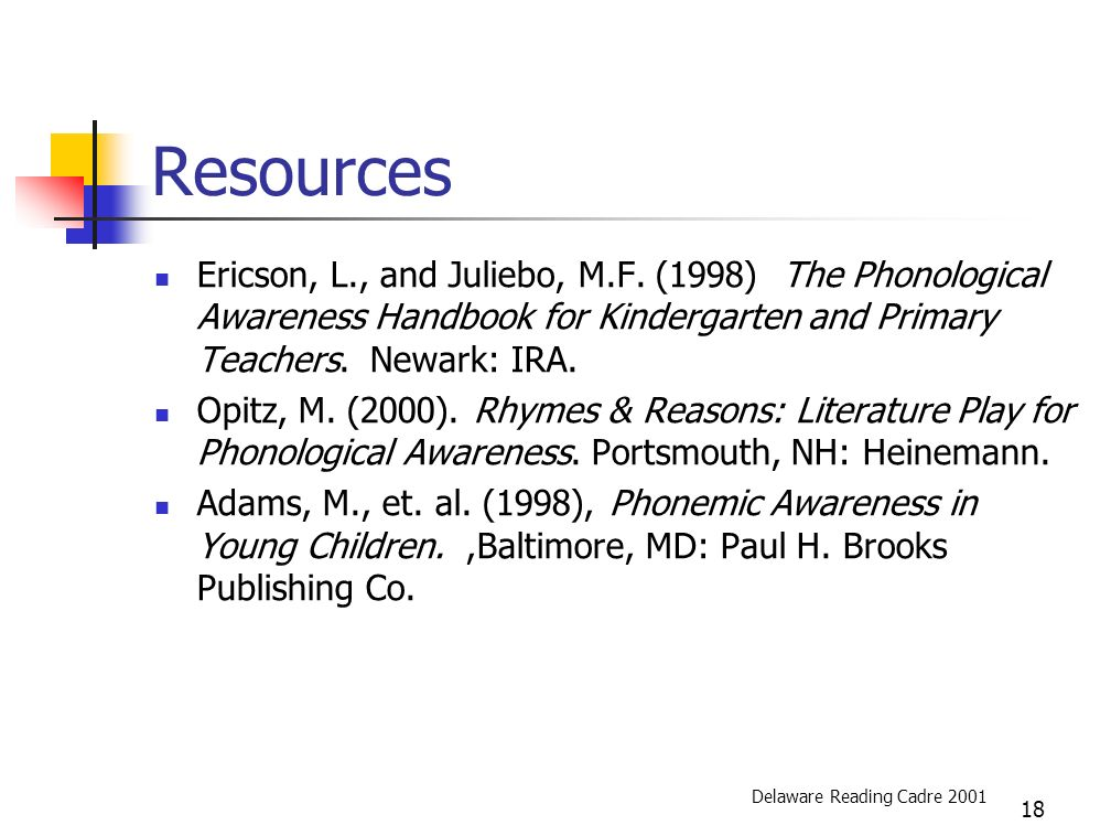 18 Resources Ericson, L., and Juliebo, M.F.