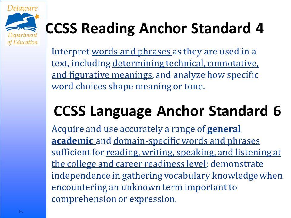 The CCSS and Academic Vocabulary Shift 6: Academic Vocabulary http://vimeo.com/27077248 8