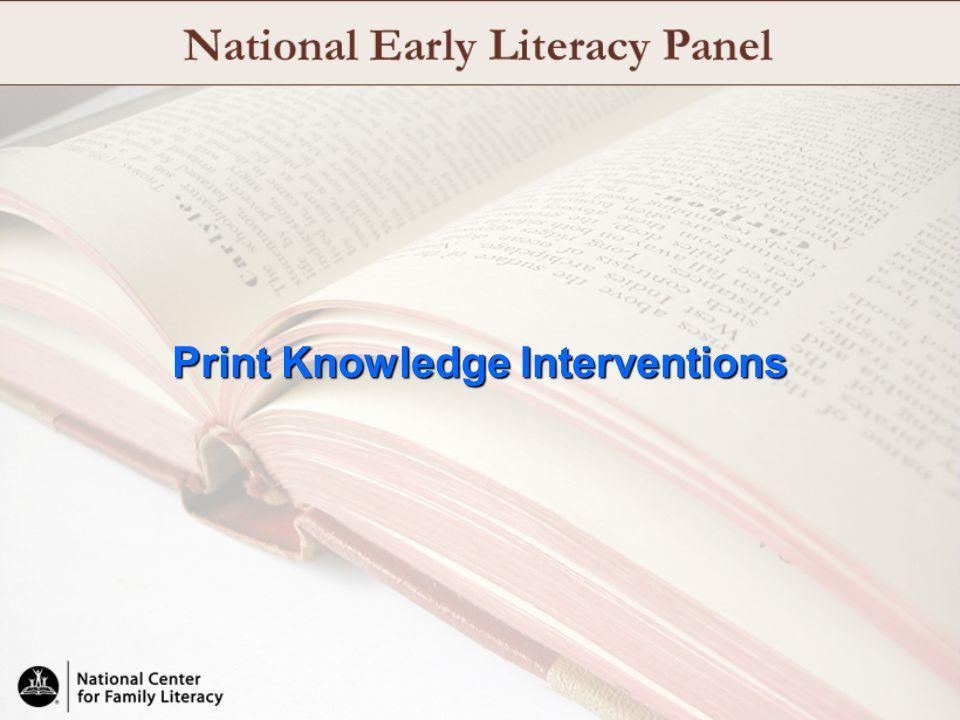 Print Knowledge Interventions