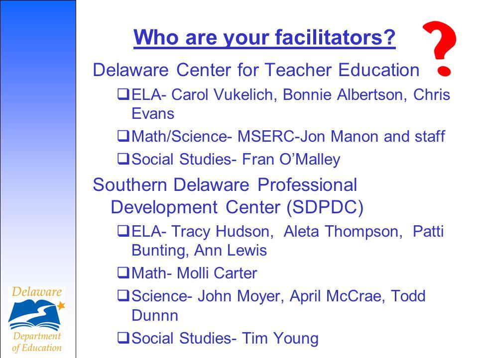 Who are your facilitators.