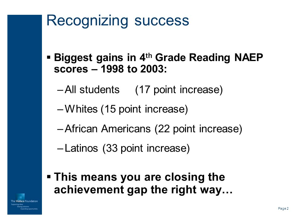 Page 3 Room for improvement… 8 th grade NAEP scores are middle of the pack Which means Delawares student going into high school are in the middle of the bottom of the international pack College going rate much lower than national average