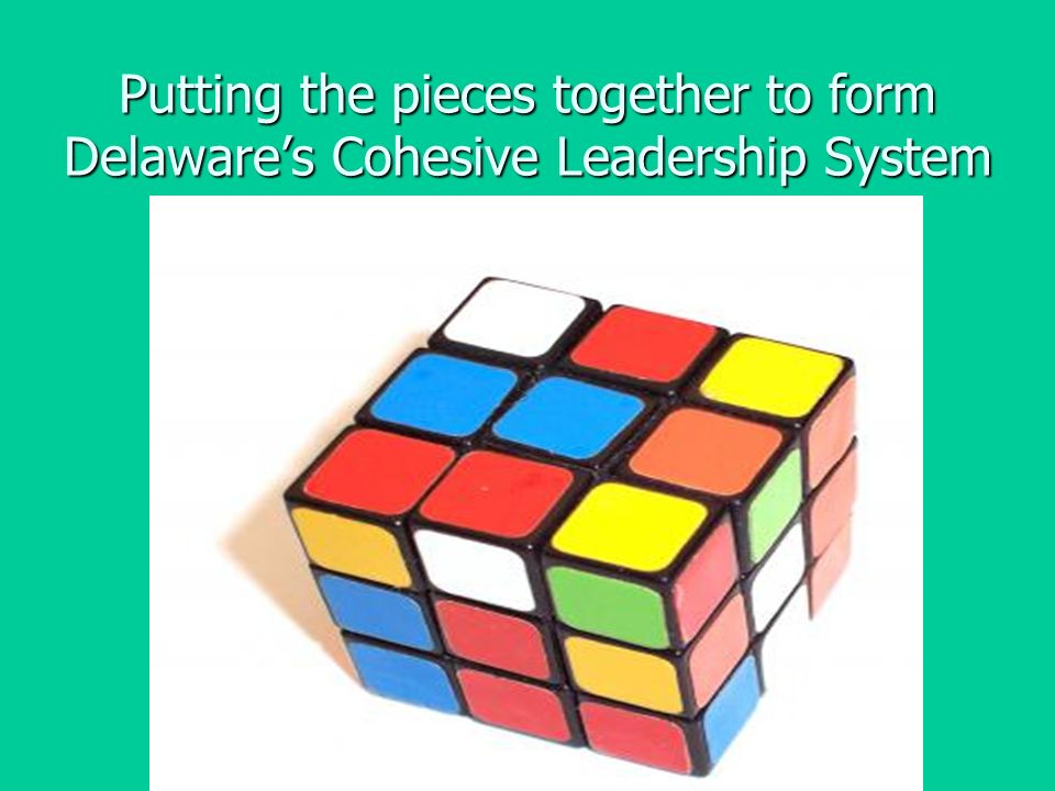 Putting the pieces together to form Delawares Cohesive Leadership System