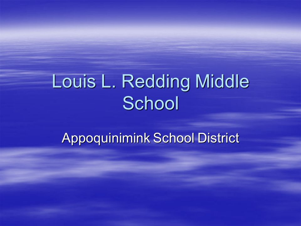 Louis L. Redding Middle School Appoquinimink School District