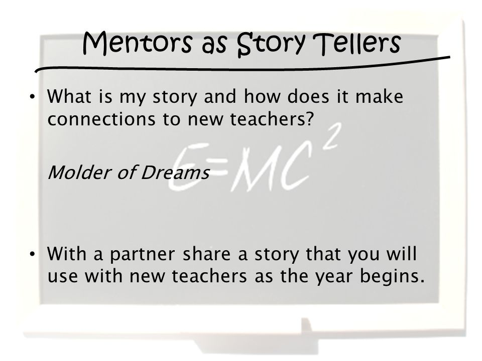 What is my story and how does it make connections to new teachers.