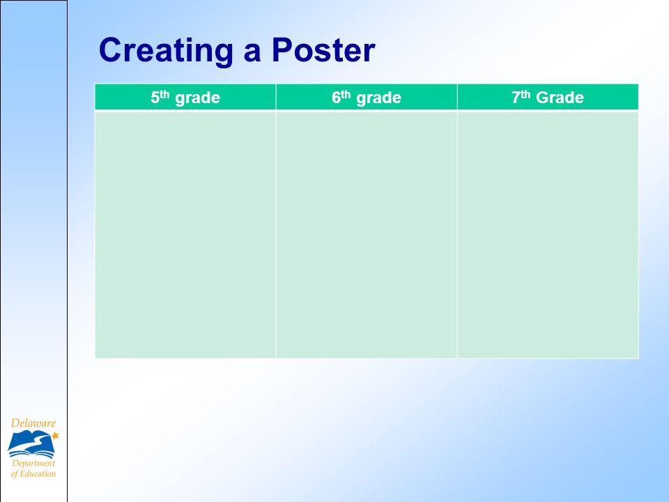 Creating a Poster 5 th grade6 th grade7 th Grade