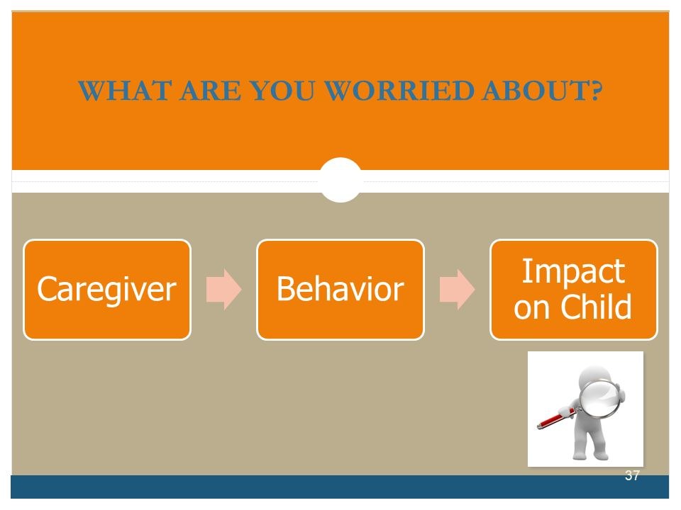 WHAT ARE YOU WORRIED ABOUT? CaregiverBehavior Impact on Child 37
