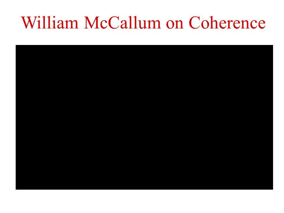 William McCallum on Coherence