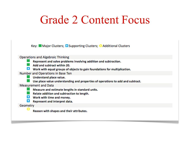 Grade 2 Content Focus