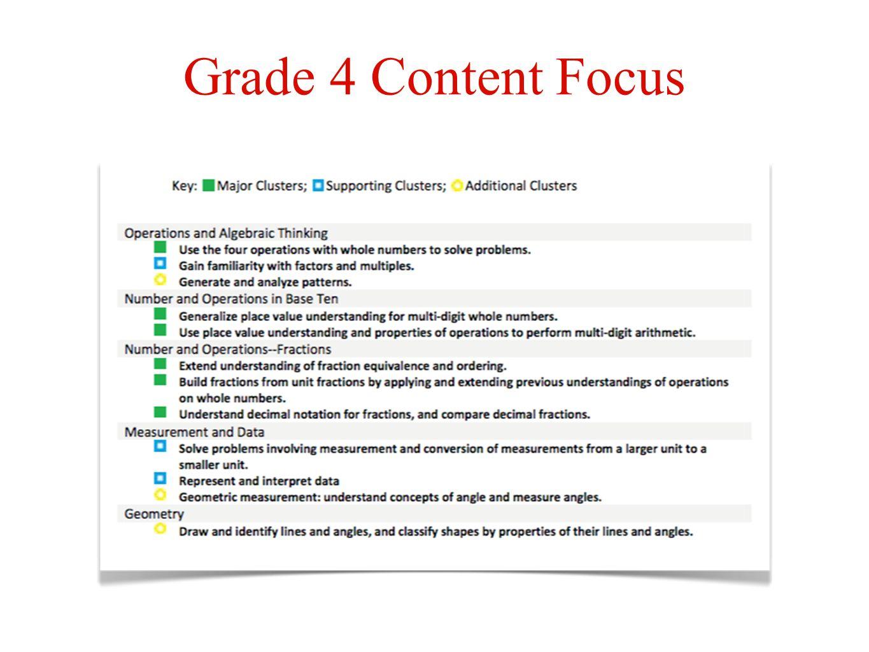 Grade 4 Content Focus