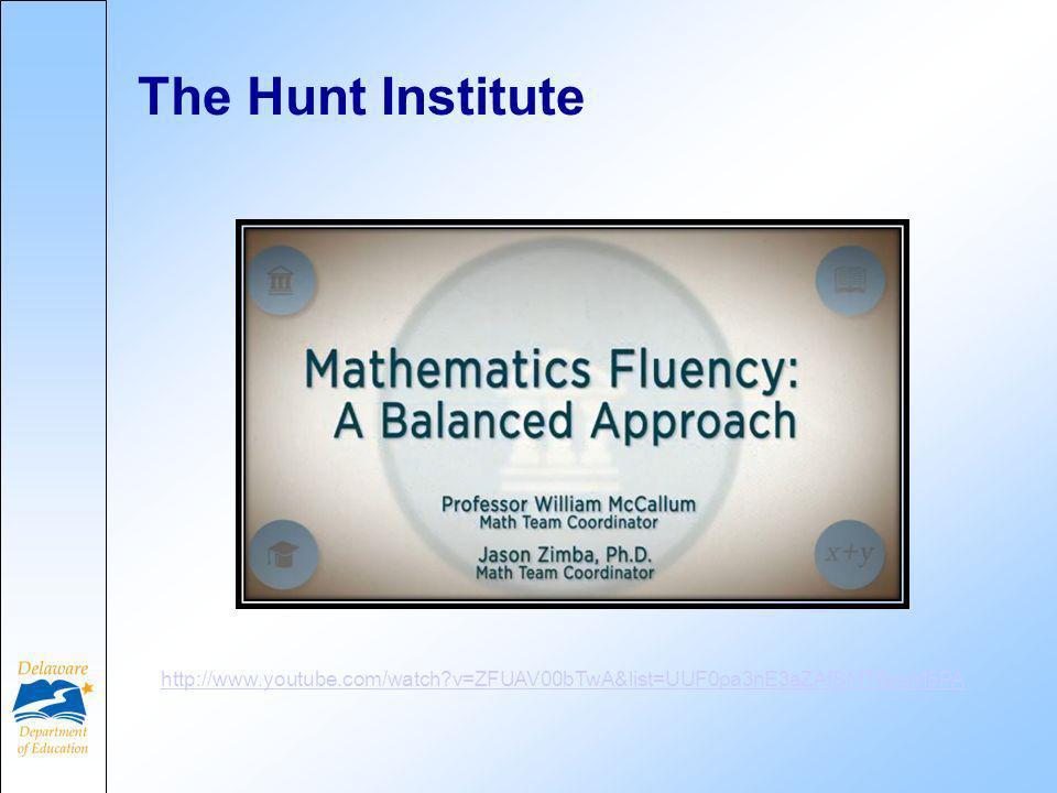 The Hunt Institute http://www.youtube.com/watch v=ZFUAV00bTwA&list=UUF0pa3nE3aZAfBMT8pqM5PA