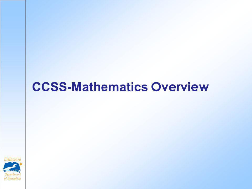 CCSS-Mathematics Overview