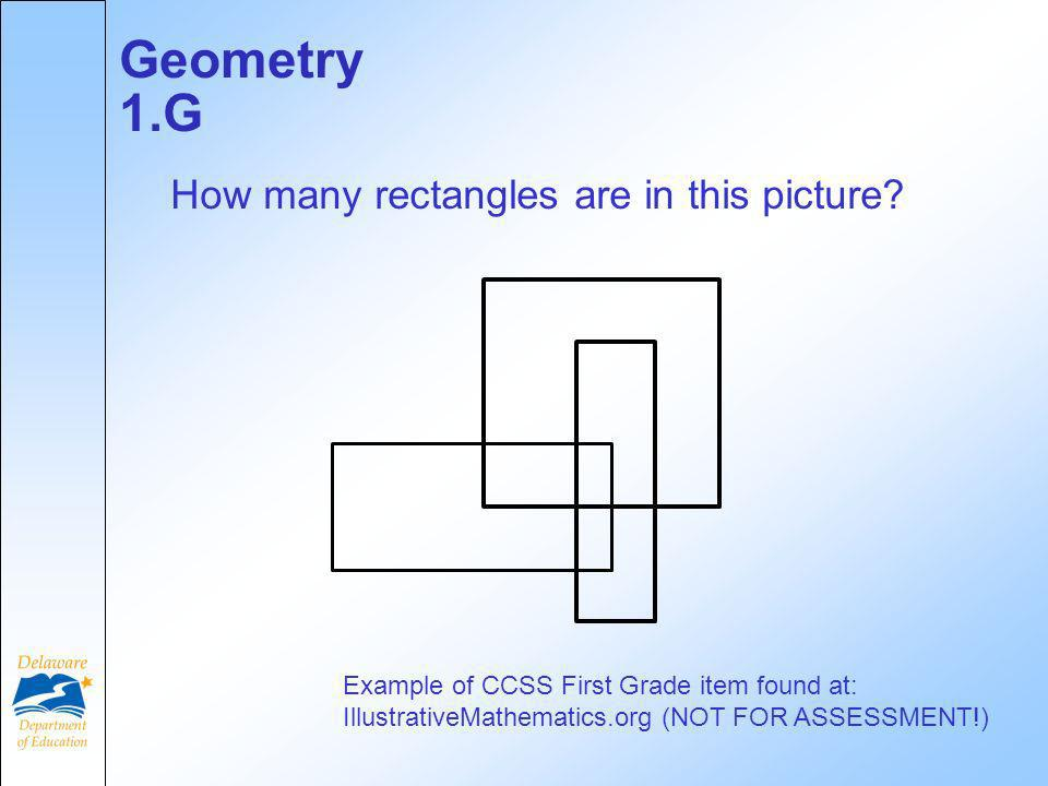 Geometry 1.G How many rectangles are in this picture.