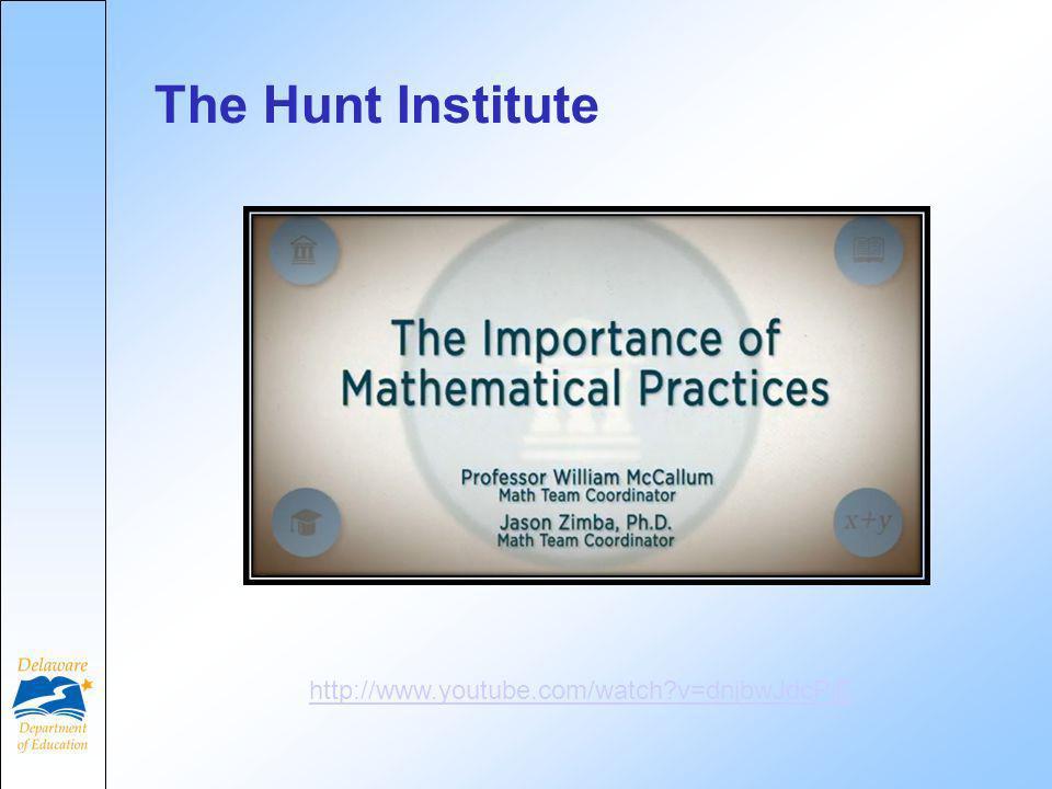 The Hunt Institute http://www.youtube.com/watch v=dnjbwJdcPjE