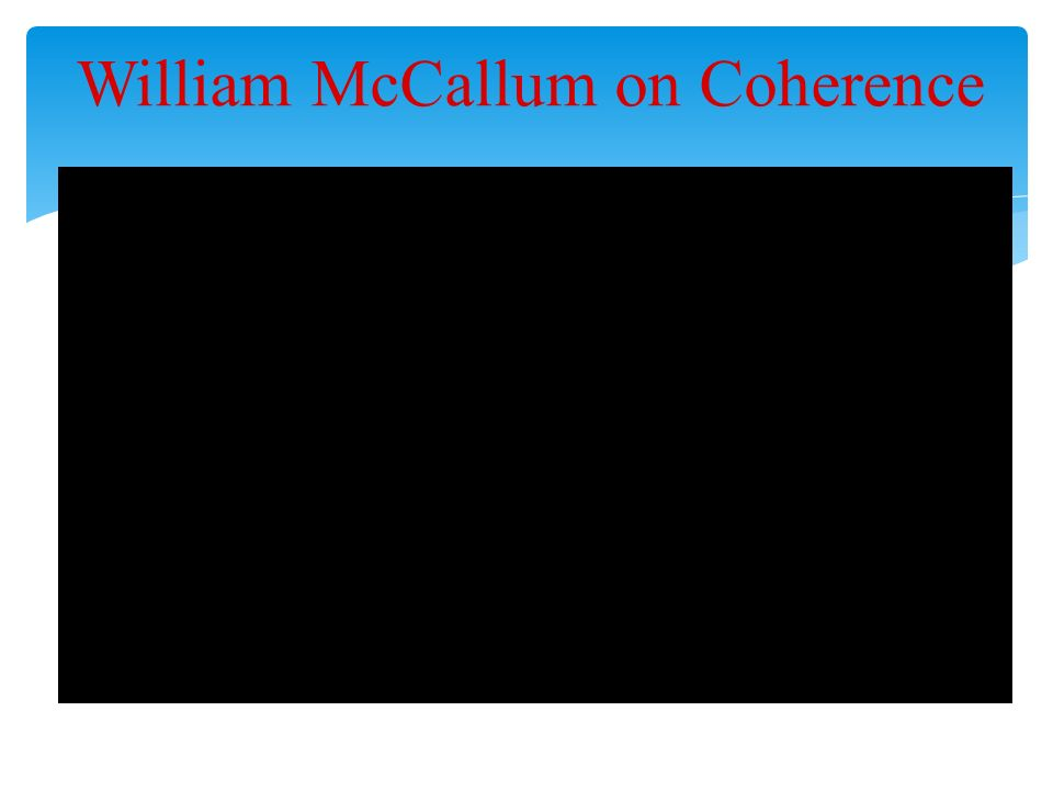 William McCallum on Coherence
