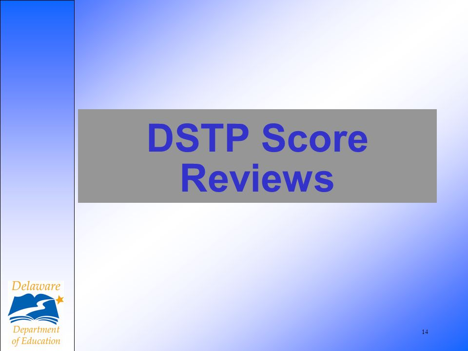 14 DSTP Score Reviews
