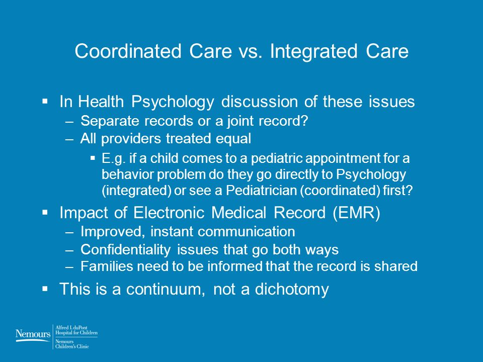 Coordinated Care vs.