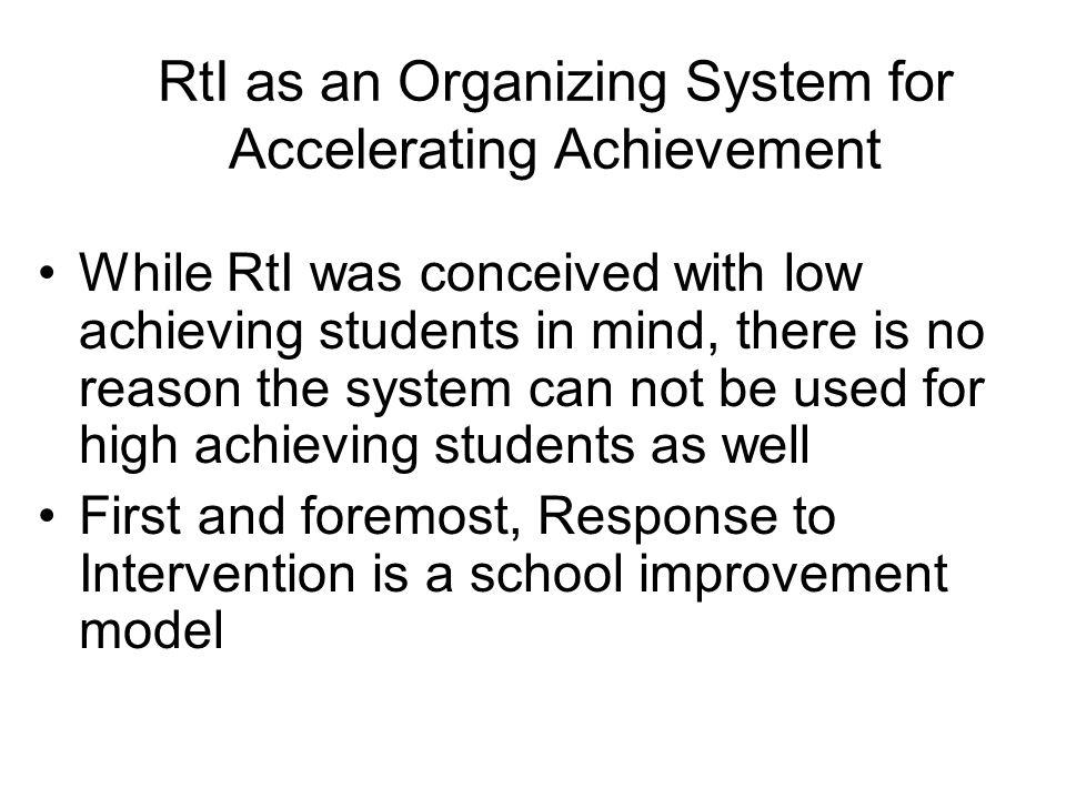 Why does my school need a 3 tiered system? Are you satisfied with how all your students are achieving? Many schools have had few options for strugglin
