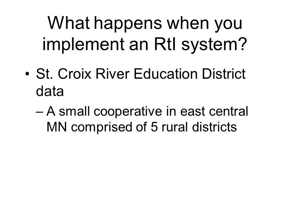 RtI as an Organizing System for Accelerating Achievement While RtI was conceived with low achieving students in mind, there is no reason the system ca