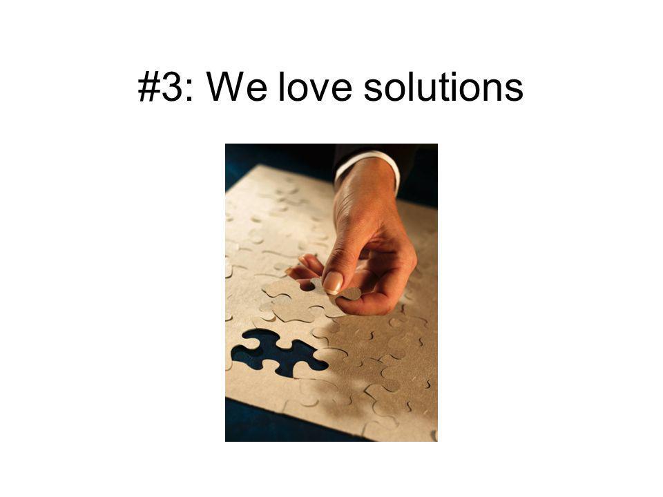 #2: We like problems