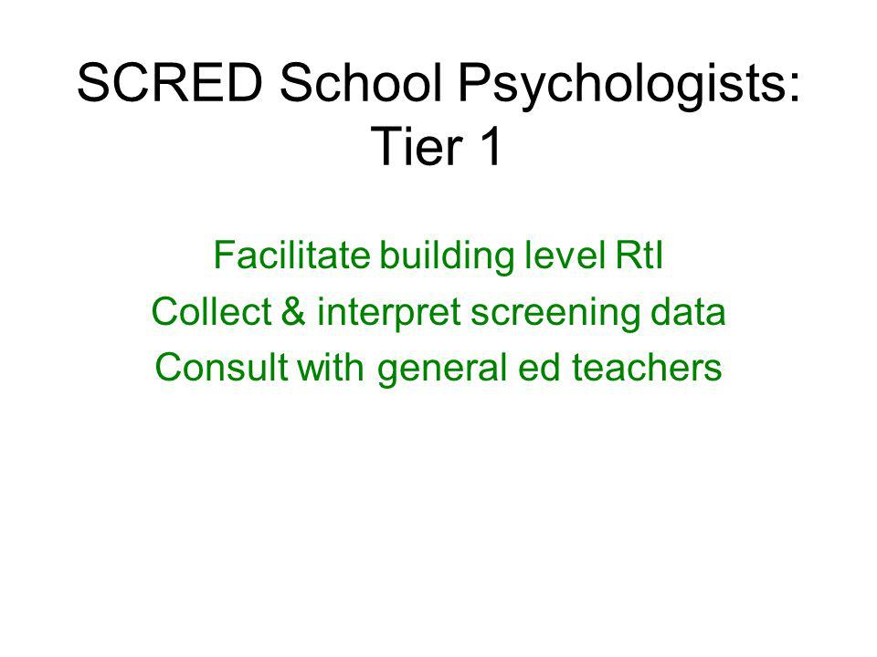 School Psychologists Leaders for implementing a RtI framework