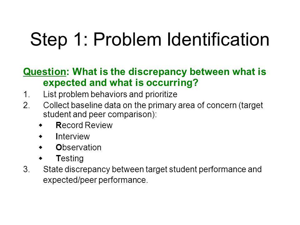 Steps of Problem-Solving 1. PROBLEM IDENTIFICATION 2. Problem Analysis 3. Plan Development 4. Plan Implementation 5. Plan Evaluation