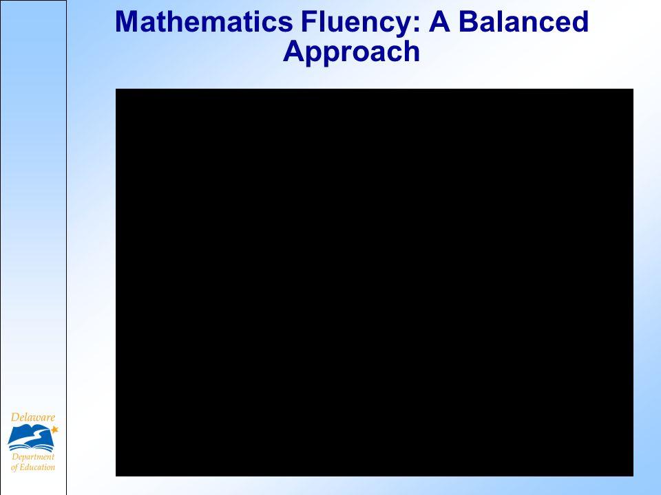 Mathematics Fluency: A Balanced Approach