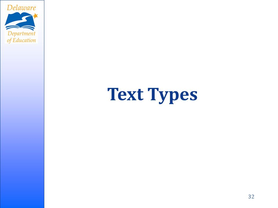 32 Text Types