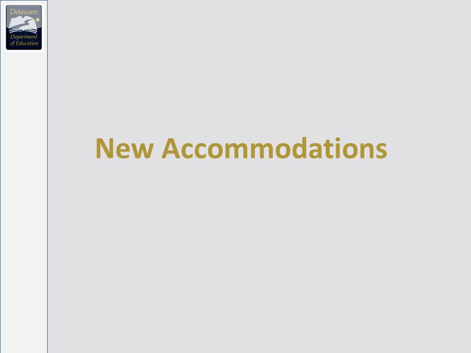New Accommodations