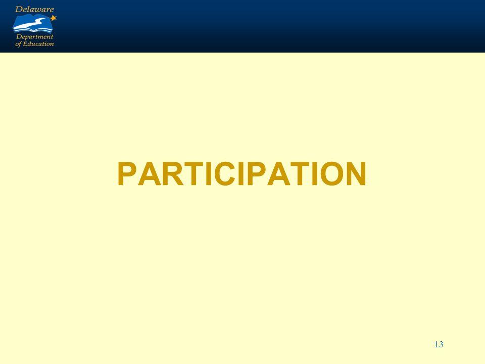 13 PARTICIPATION