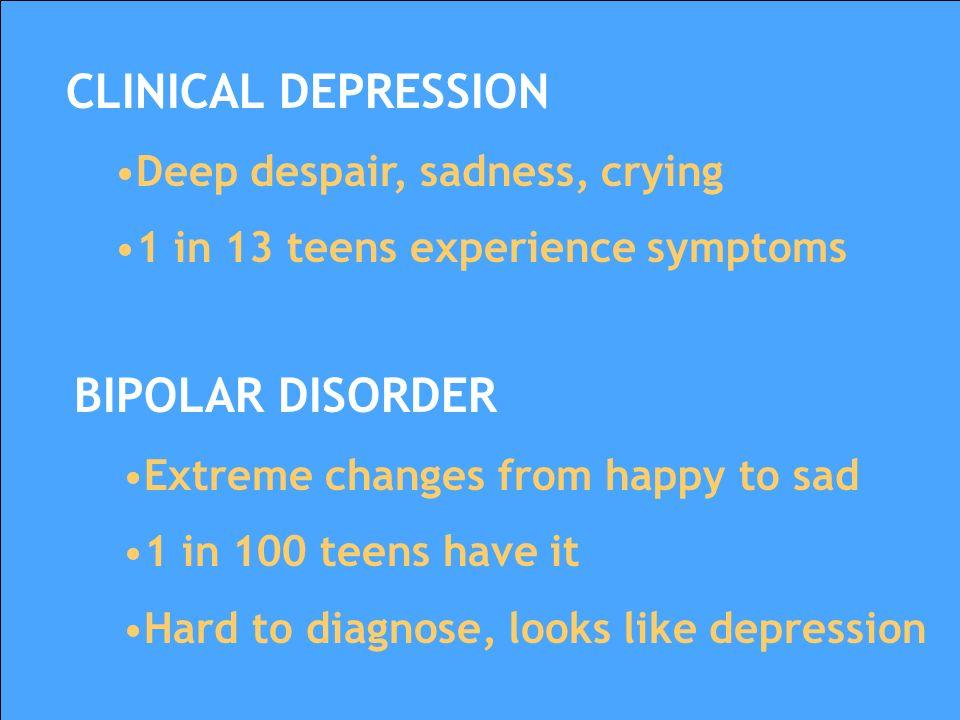 Mood disorders Anxiety disorders Psychotic disorders Behavioral/disruptive disorders Teen Mental Health Disorders