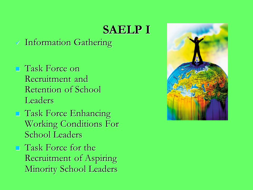 SAELP I School Leader Induction Program School Leader Induction Program Assessment Center Assessment Center Mentoring Program Mentoring Program Profes