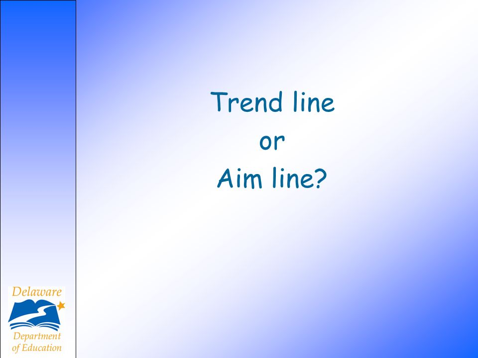Trend line or Aim line?