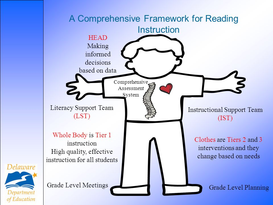 A Comprehensive Framework for Reading Instruction Comprehensive Assessment System HEAD Making informed decisions based on data Literacy Support Team (