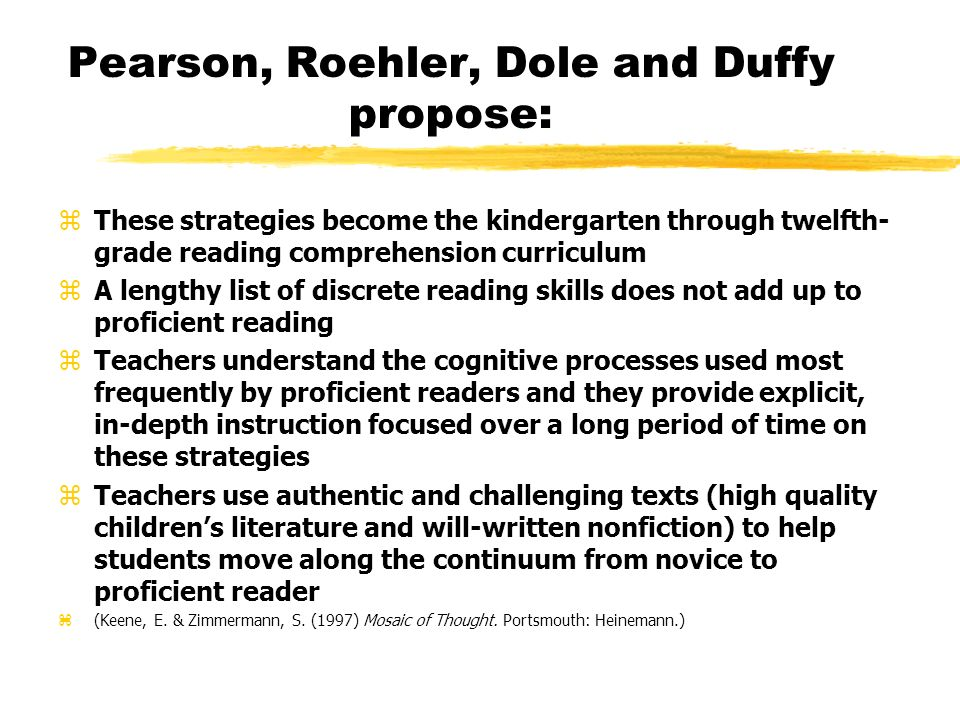 More Ways to Strengthen Reading Comprehension Good readers have several strategies in common. zThey make connections between prior knowledge and the t