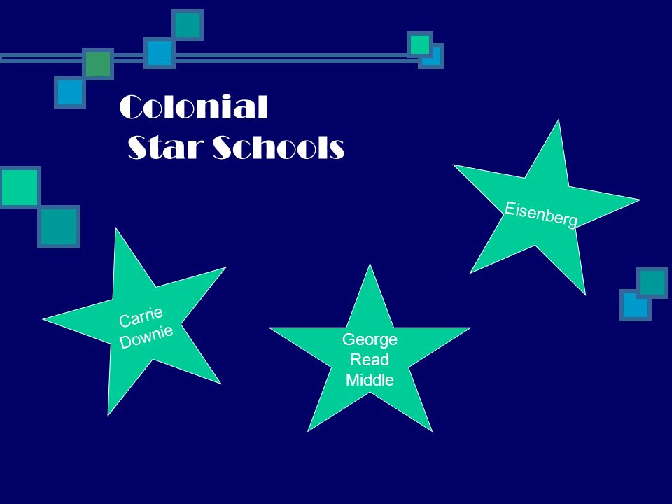 Christina Star Schools Keene STERCK Shue-Medill Middle Wilson DownesGallaher Newark HS Smith ES Stubbs