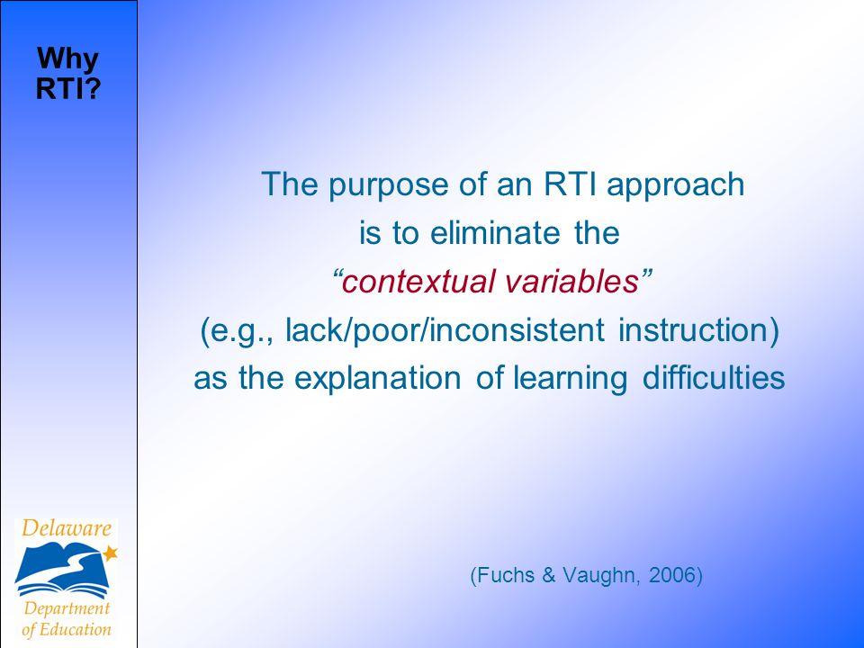 Why RTI.