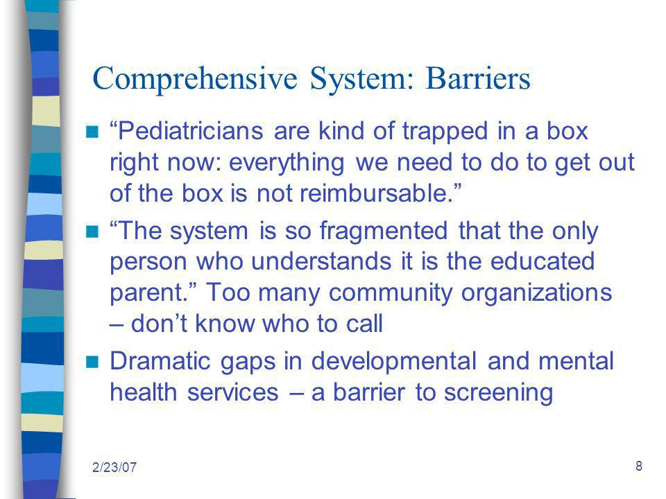 2/23/07 19 Level I Strategies: Practice-Based Systems Change 1.