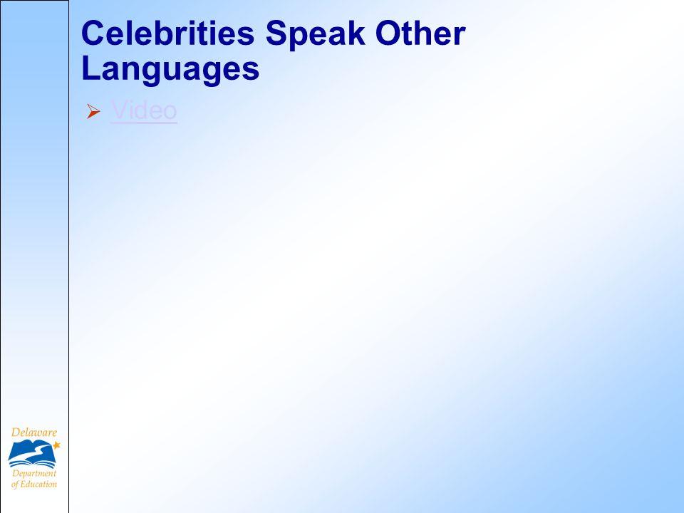 Celebrities Speak Other Languages Video