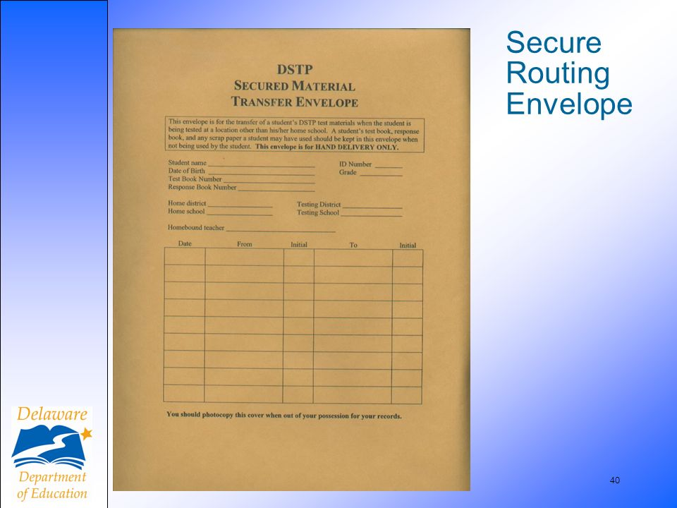 40 Secure Routing Envelope